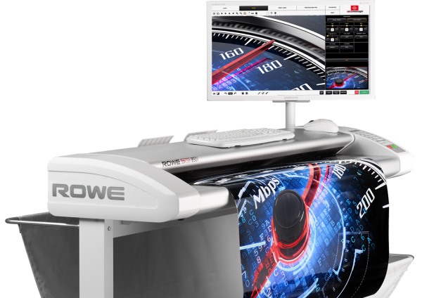 ROWE Scan 850i mit Unterstand und TouchScreen
