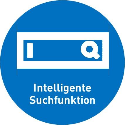 intelligente Suchfunktion