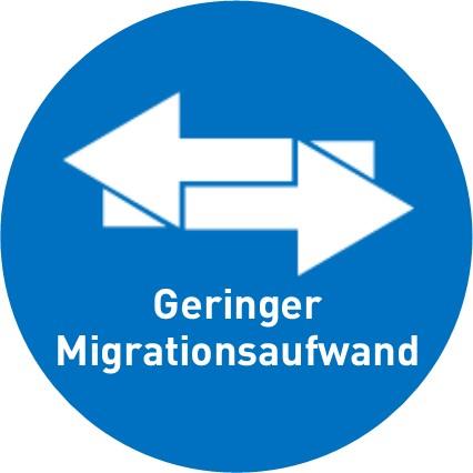 Wenig Migrationsaufwand